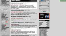 Screenshot from the newspaper website showing two conflicting stories published on the same day