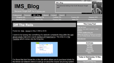 A screenshot showing this blog with a black and white colour scheme