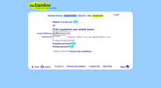 Screenshot of the offending login screen, showing the login link lost within the noise