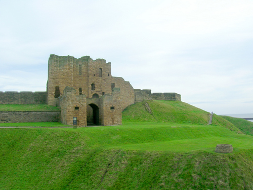 Photograph: South-east view of the castle Gatehouse, with barbican