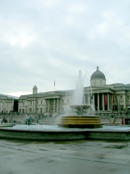 Photograph of a Trafalgar Square fountain