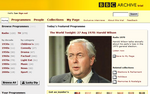 A screen capture of the BBC Archive Trial front page, showing the featured content mentioned in the main text