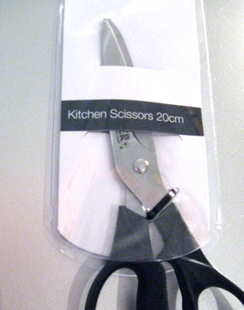 Photograph of my new kitchen scissors