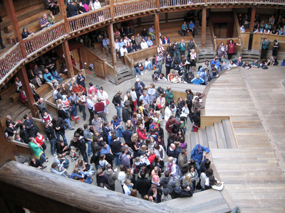 Photograph of interior of the Globe