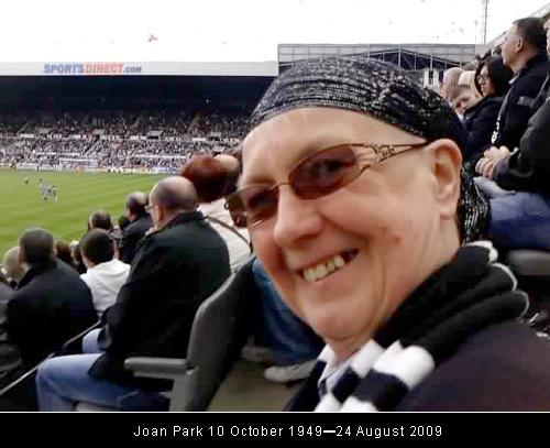 Joan Park 10 October 1949–24 August 2009
