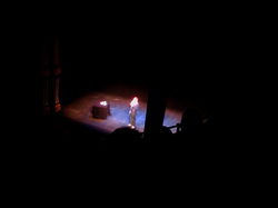 Photo of Dave Gorman on stage