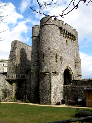 Photograph of the barbican of Lewes Castle