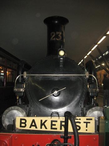 Old underground steam train