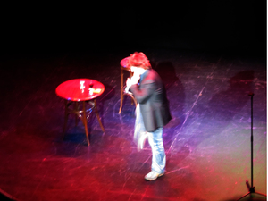 Dylan Moran on stage
