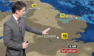 An example of the new BBC weather graphics